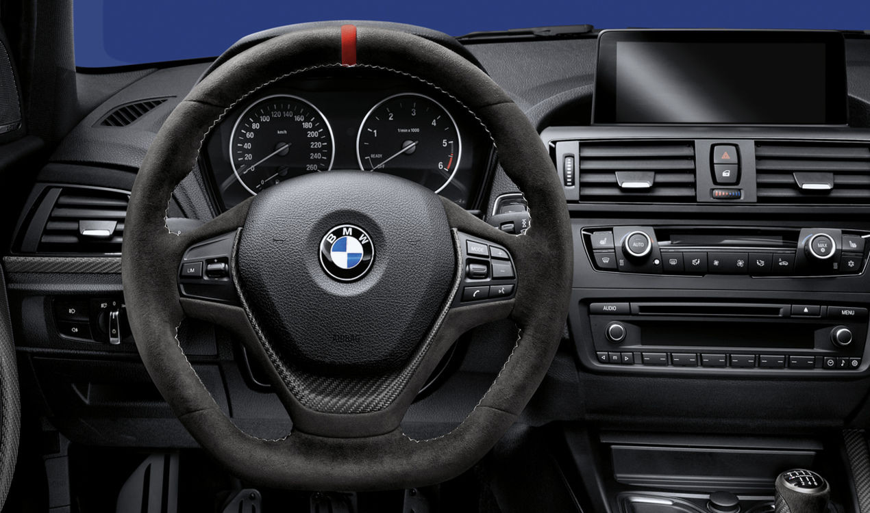 bmw m performance lenkrad alcantara mit carbonblende 1er. Black Bedroom Furniture Sets. Home Design Ideas