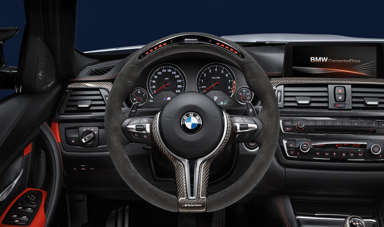 bmw m performance lenkrad alcantara mit carbonblende und. Black Bedroom Furniture Sets. Home Design Ideas