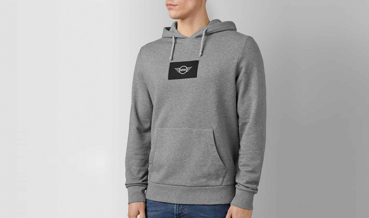 mini herren sweatshirt logo patch. Black Bedroom Furniture Sets. Home Design Ideas