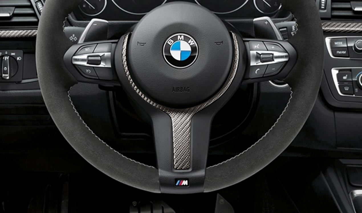 bmw m performance lenkrad abdeckung alcantara carbon 1er. Black Bedroom Furniture Sets. Home Design Ideas