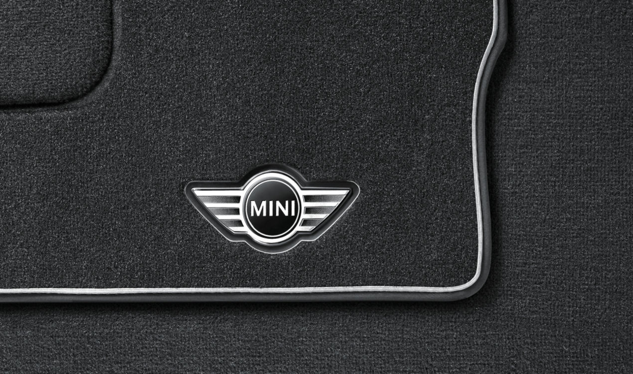 mini fu matten textil anthrazit mit trittschutz r60 r61. Black Bedroom Furniture Sets. Home Design Ideas