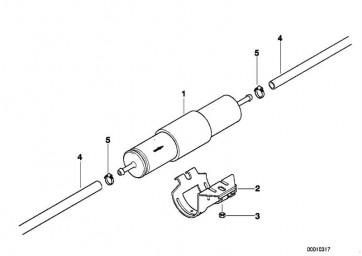 Halter Kraftstofffilter D=55MM          3er  (13321435583)