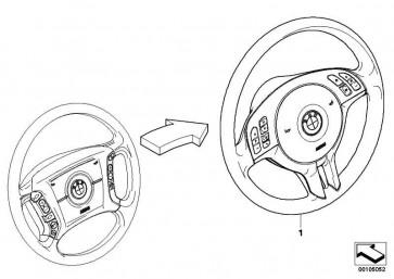 Sportlenkrad Airbag Leder SCHWARZ         X5  (32306770422)