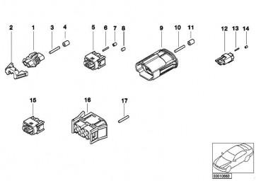 Universal-Buchsengehäuse uncodiert 4 POL.          1er 3er 5er 6er 7er X3 X5 X6 Z3 Z4 MINI  (61138365356)