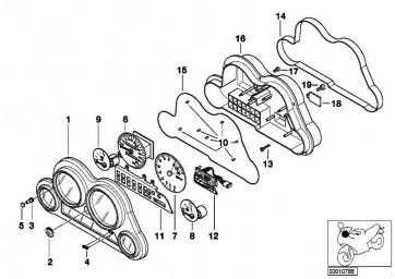 Instrumentenkombination-Gehäuse  K41 K589  (62117654351)