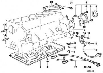 Sechskantschraube mit Scheibe M6X28-Z1        3er 5er 7er X3 X5 Z3 Z4  (07119913975)