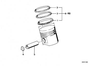Reparatursatz Kolbenringe 80,480MM(+0,50) (11251714849)