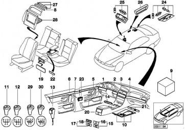 Schalter Zentralverriegelung  5er 7er  (61318360828)