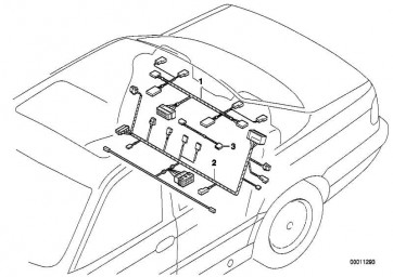 Kabelsatz Sitzheizung/Kopfstütze Hi.  7er  (61128370797)