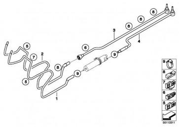 Leitungsclip  7er 3er 1er Z4 X1 4er i8 i3  (16121184919)