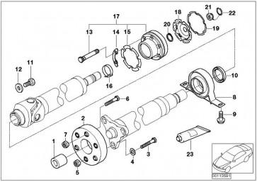 Sechskantschraube M10X61-10-ZNS3  3er 5er 6er 7er X1 X3 X4  (26117572709)
