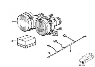 Doppelscheinwerfer verstellbar links  7er 5er  (63121391597)