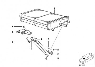 Wärmetauscher, Innenraumheizung (NSS-70520)