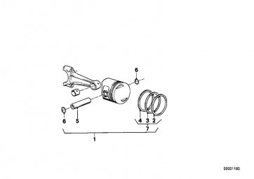 Reparatursatz Kolbenringe KS BR1+BR2      K569 K589  (11251461958)