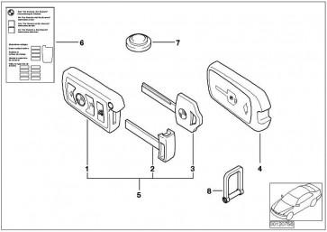 Reserveschlüssel (Code)  1er 3er 5er 6er 7er X5  (51217013722)