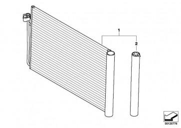 Kondensator Klimaanlage mit Trockner  5er 6er 7er  (64509122827)