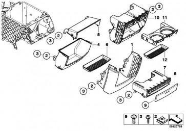 Dekorleiste Dosenhalter hinten COSMOSSCHWARZ   X5  (51168263180)