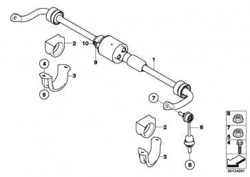 Haltebügel Stabilisator links  5er 6er  (37126760733)