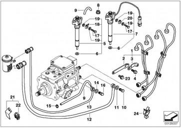 Kraftstoffvorlaufleitung  3er  (13532247414)