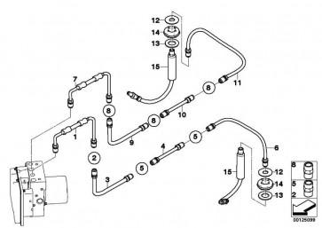 Rohrleitung M10/M12         6er  (34326772500)