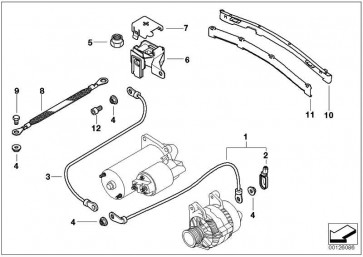Kabel Generator-Anlasser  3er  (12511722094)