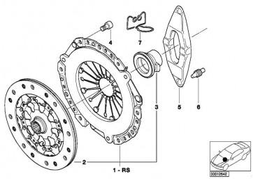 Kupplungsscheibe D=240MM         3er  (21217520844)