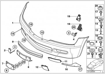 Verkleidung Stossfänger grundiert vorn  Z3  (51118401815)