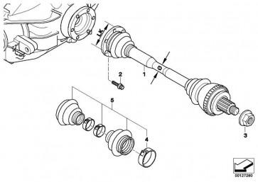 Austausch Abtriebswelle links LK=94MM/D=38MM  3er  (33217504521)