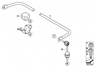 Gummilager Stabilisator D=18MM          5er 6er  (33552283073)