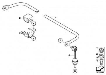 Stabilisator hinten D=18MM          5er 6er  (33552283072)