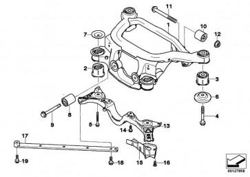 Sechskantschraube mit Scheibe M10X30-U1-10.9  1er 3er 5er X3 Z4  (07119903813)