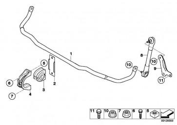 Stabilisator vorn D=25,6MM        5er 6er  (31357905312)