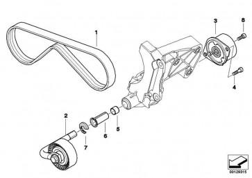 Zylinderschraube M8X22-ZNS       3er 5er 7er X3 X5  (07119902263)