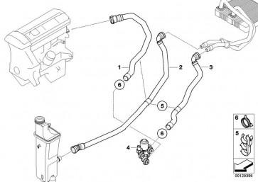 Schlauch Heizkörper-Ausgleichbehälter (64213400417)