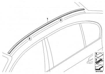 Zierleiste Dach grundiert links  5er  (51137115191)