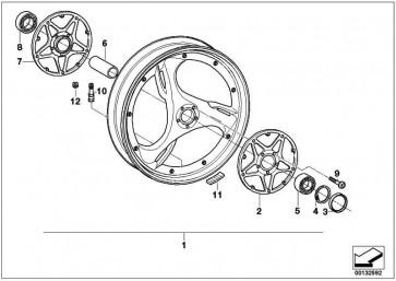 Gussrad silber vorne 2.50X18          (71607659769)