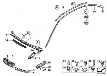 Ziergitter Seitenwand vorne links M3              3er  (51132694607)
