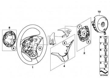 Sportlenkrad Airbag Leder SCHWARZ 5er 6er  (32346763374)