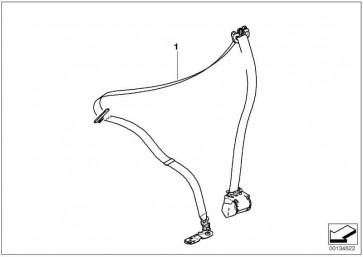 Obergurt vorn rechts mit Kraftbegrenzer SCHWARZ         3er  (72117234768)