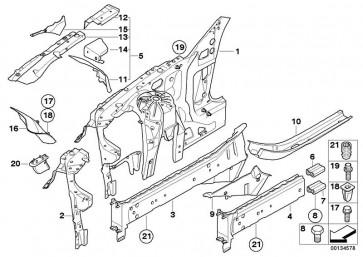 Motorträger links BASIS           (41117111075)