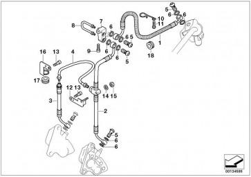 Bremsschlauch für Lenker breit L=445MM         (34322335439)