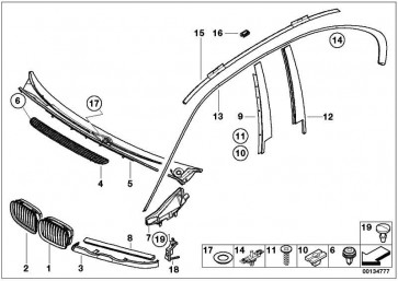 Halteklammer links SCHWARZ         3er  (51138208503)