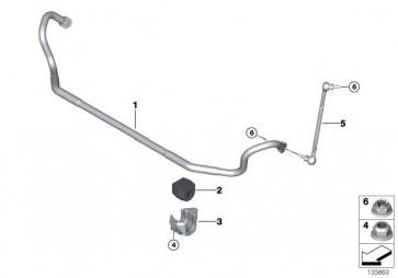 Stabilisator mit Gummilager vorn D=26,5MM        1er 3er  (31356796305)