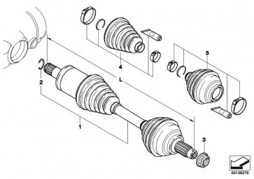 Austausch Abtriebswelle rechts L=1055MM        X5 X6  (31607545126)