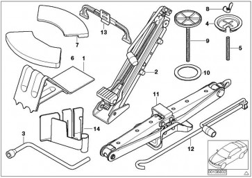 Gelenkwagenheber Stahl  X3 X5 X6  (71126754372)