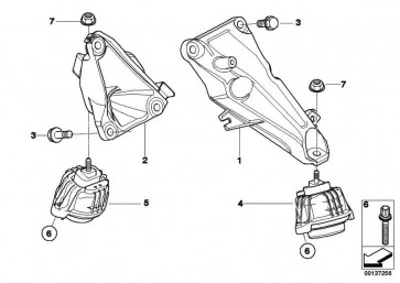 Motorträger links  1er 3er X1  (22116760307)