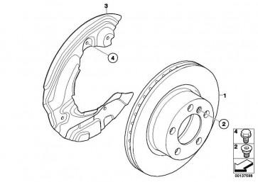 Bremsscheibe belüftet 330X24          1er 3er X1  (34116854999)