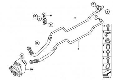 Ölkühlerleitung Rücklauf  1er 3er  (17227572712)