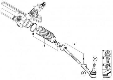 Reparatursatz Faltenbalg TRW             1er 3er X1  (32106765079)