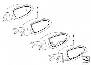 Spiegelglas beheizt Weitwinkel links M ELECTROCHROM  5er 6er  (51168040913)